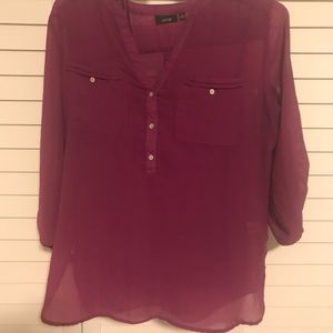 Plum blouse with matching tank
